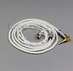 LN006346 99.99% Pure Silver XLR 3.5mm 2.5mm 4.4mm Earphone Cable For Flat Step JH Audio JH16 Pro JH11 Pro 5 6 7 BA Custom
