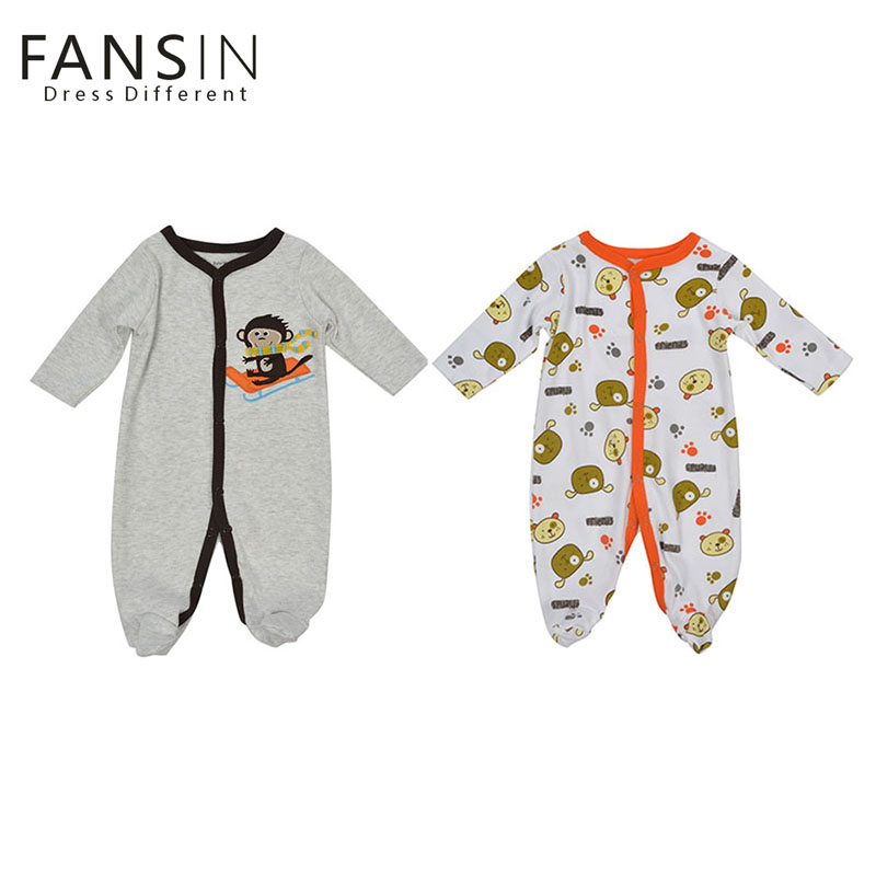 FANSIN Brand Winter Baby Rompers Cotton Long Sleeve 0-12M Baby Clothing Overalls Animal Newborn Clothes Boy Girl Romper Jumpsuit baby overalls long sleeve rompers clothing cotton dog anima 2017 new autumn winter newborn girl boy jumpsuit hat indoor clothes