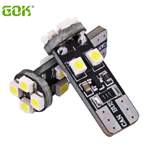 Free shipping 100pieces/lot T10 led Canbus W5W/194/T10 8SMD 3528 1210 12v LED Car bulb clearance light white no Error(China)