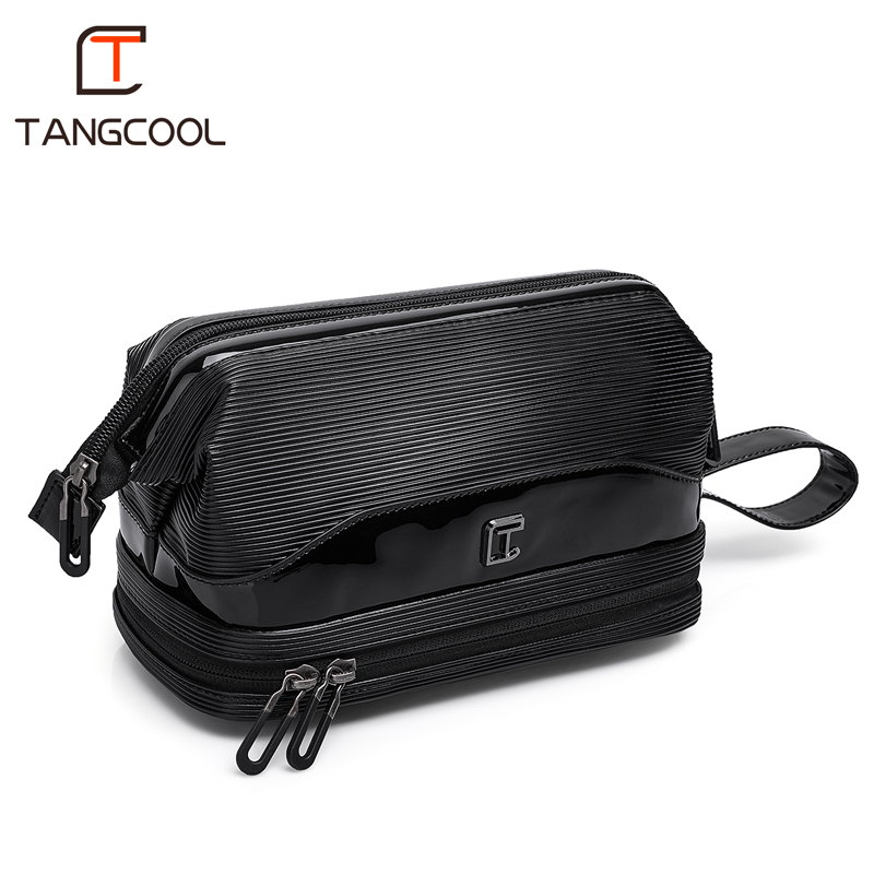 Tangcool Fashion Trend Models Men's Leather Day Clutches Handbag Large Capacity Travel Business Bag Wallet
