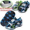 Moda 1 pair Niños Encantadores de Cuero de LA PU Sandalias Del Bebé, Cabritos del verano Del Muchacho, zapatos de calidad Estupenda playa sandalias