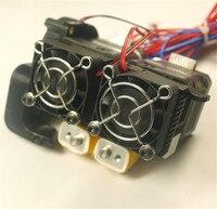 1 комплект * Mk10 двойной сборки экструдер полный комплект 1.75 мм NEMA 17 мотор Совместимость Flashforge/wanhao/ctc 3D принтер Запасные части