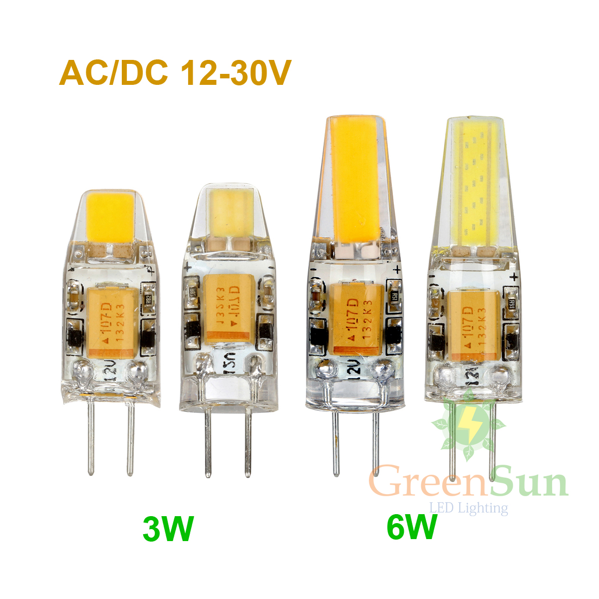 Mini G4 LED Lamp 3W 6W AC/DC 12V Dimmable G4 COB Capsule LED Bulb 360 Beam Angle Replace Halogen Lamp Chandelier Lights
