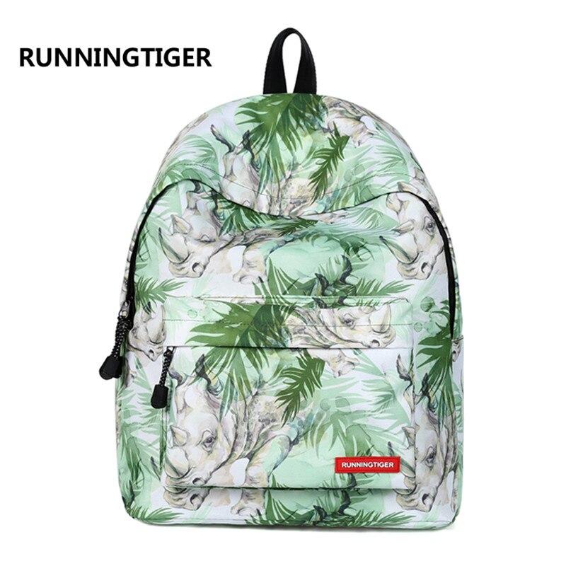 Повседневное Catoon животных печати рюкзак Для женщин Для мужчин школьные сумки женские парусиновые Mochila школьные сумки для подростков Новые ...