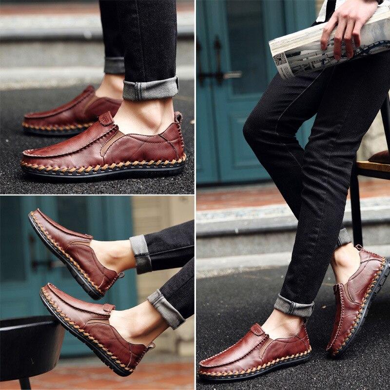 limite brown Hommes À Croix Sauvage En Angleterre Noir Pieds La rouge Cuir Ensembles Tendance Casual 2019 Chaussures Couture De Main 4qH40Yw