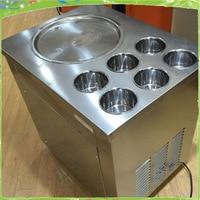 stainless steel fried ice pan machine freezing yoghourt milk juice machine