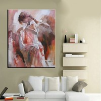 Hight Quality nude sexy woman picture Dancer painting latina woman Oil painting on canvas Hand painted Spanish Flamenco Painting