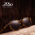 20/20 Polarized Sunglasses women Brand Designer Acetate Round Sun Glasses for Men Classic Rivet Eyewear feminino Oculos AT8003