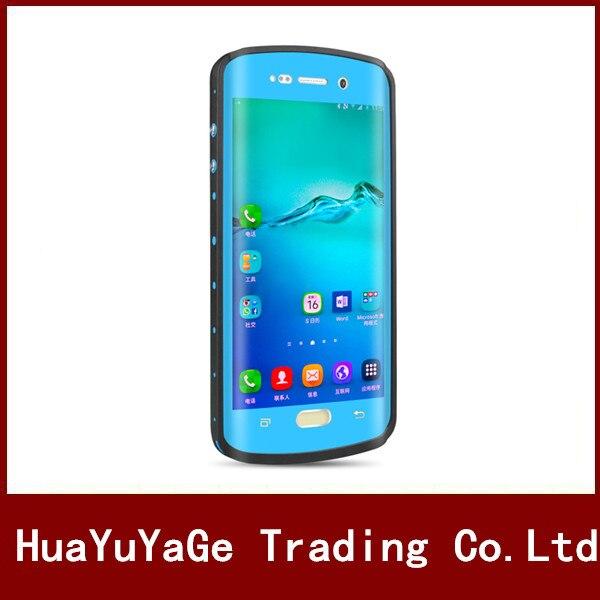 imágenes para Redpepper cajas del teléfono a prueba de choques impermeable Del caso Del Soporte con Pie de Apoyo Ultra-delgado Bolso de la Cubierta para Samsung Galaxy S6 Edge Plus