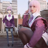 Anime SSSS.GRIDMAN Akane Shinjo Short Bobo Straight Purple Ombre Grey Synthetic Hair Cosplay Wig + Wig Cap