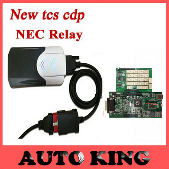 2015.1 version free active  tcs cdp pro plus with green board and NEC Japan relay new vci Without BLUETOOTH