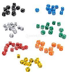 50x12mm opaco seis tomou partido jogo d6 d & d rpg de dados jogo novo 7 cores