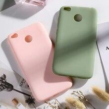 Case For Xiaomi Redmi 4X Cases Matte Candy Color Soft Silicone Phone Back Cover Xiomi Covers Bumper Funda