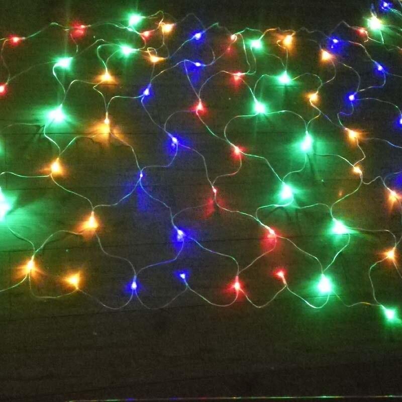 2M*1.5M 100 LED lights Christmas decoration light mesh lights voltage 30  250V large voltage input range-in Holiday Lighting from Lights & Lighting  on ... - 2M*1.5M 100 LED Lights Christmas Decoration Light Mesh Lights