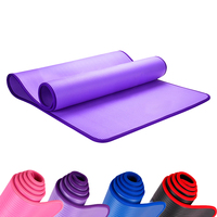 New Smart Hemming Yoga Mat Men Women Beginners Lengthen Widened Fitness Mats 10MM Sports Non slip Tasteless Yoga Blanket
