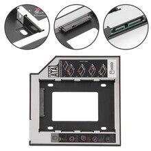 """Новое поступление SATA 3,0 2nd HDD Caddy 9,5 мм для 2,"""" 2 ТБ SSD чехол Корпус для жесткого диска с светодиодный для ноутбука DVD-ROM Оптический отсек"""