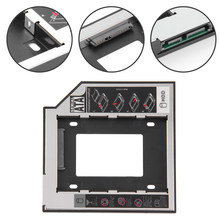 "Baru Kedatangan SATA 3.0 2nd HDD Caddy 9.5 Mm untuk 2.5 ""2 TB SSD Case Hard Disk Enclosure dengan LED untuk Laptop DVD-ROM Optical Bay(China)"