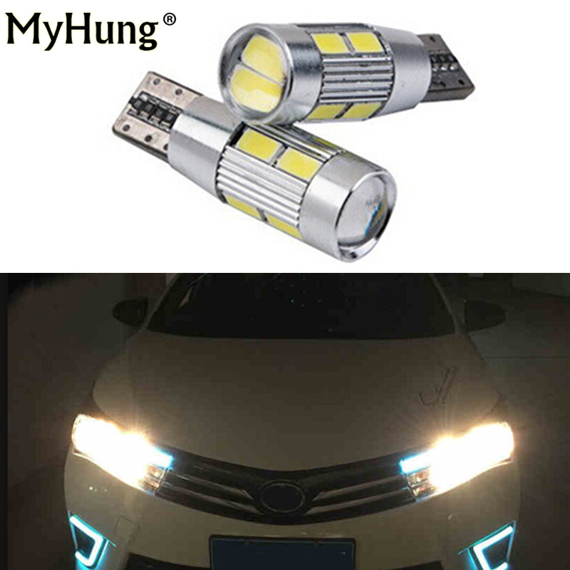 2pcs For <font><b>toyota</b></font> corolla 2014 avensis <font><b>rav4</b></font> auris T10 LED W5W 12V 194 drl Car LED Auto Lamp Light bulbs with Projector Lens image