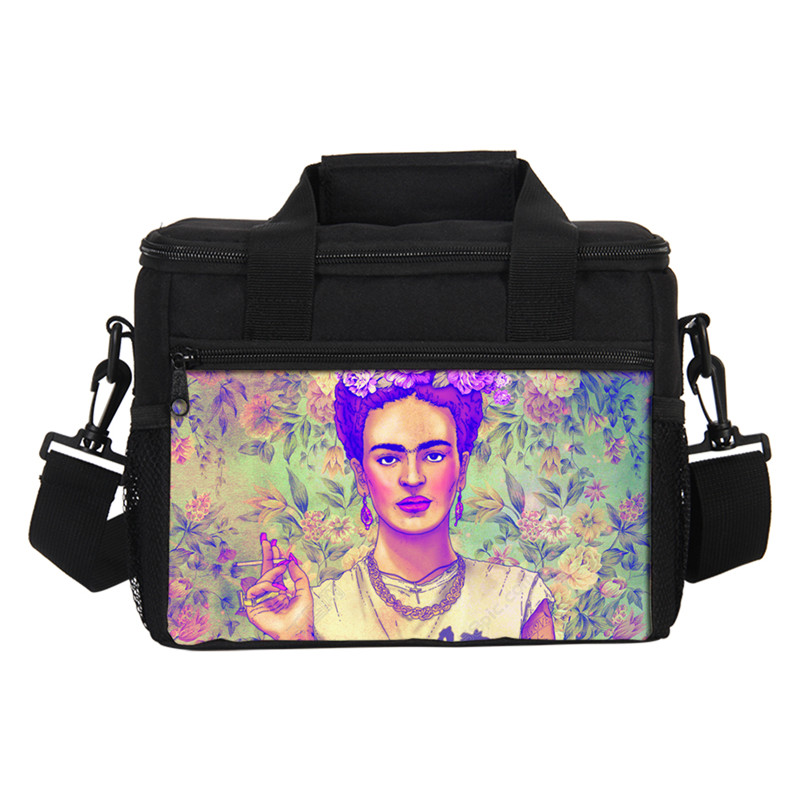 VEEVANV Thermal Insulated Cooler Bags Kids 3D Prints Frida Kahlo WomenPortable Waterproof Lancheira Thermo Lunch Box Insulated