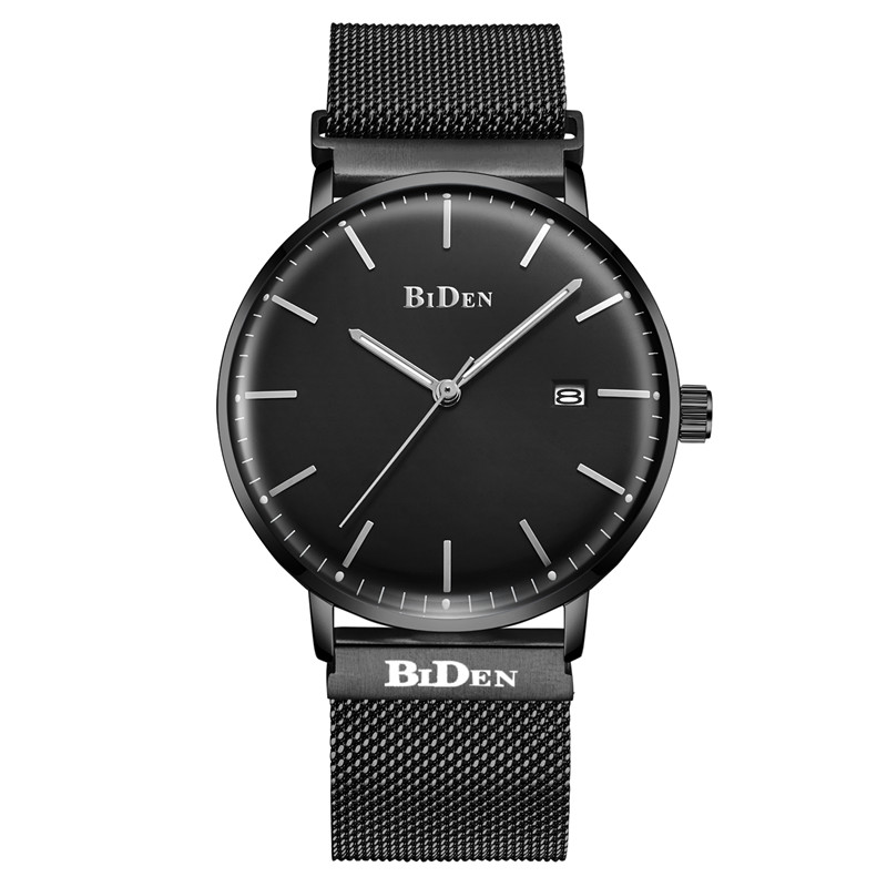 2017 BIDEN Fashion Brand Casual Watch Men Business Quartz Watch Date Clock Waterproof Clock Ultra Thin Tape relogio masculino 2016 biden brand watches men quartz business fashion casual watch full steel date 30m waterproof wristwatches sports military wa