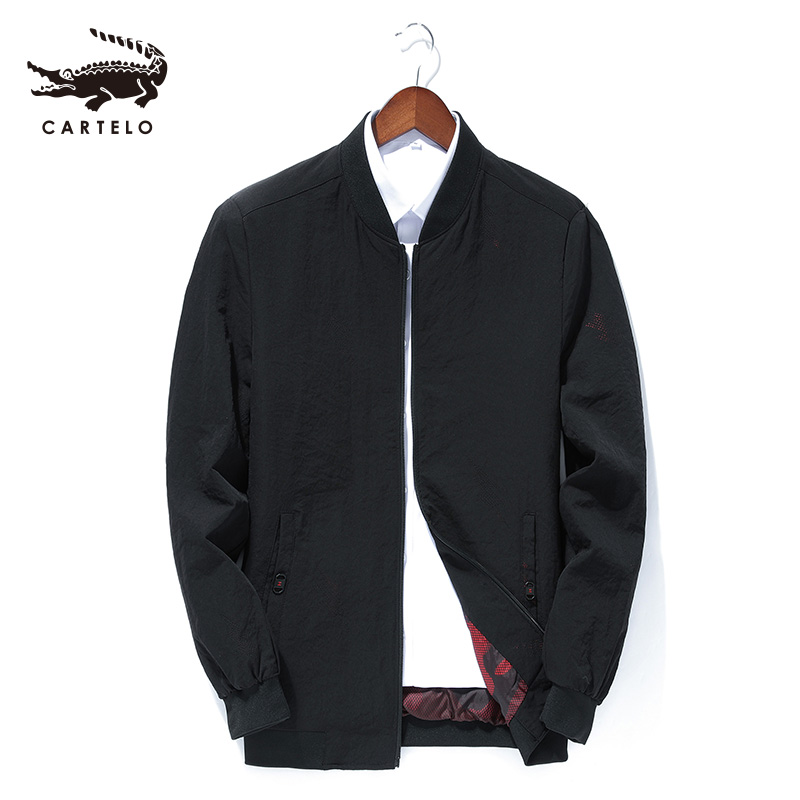 Cartelo Men's Business Casual Jacket Spring Autumn Outwear Collar Coat For Men Male 9031
