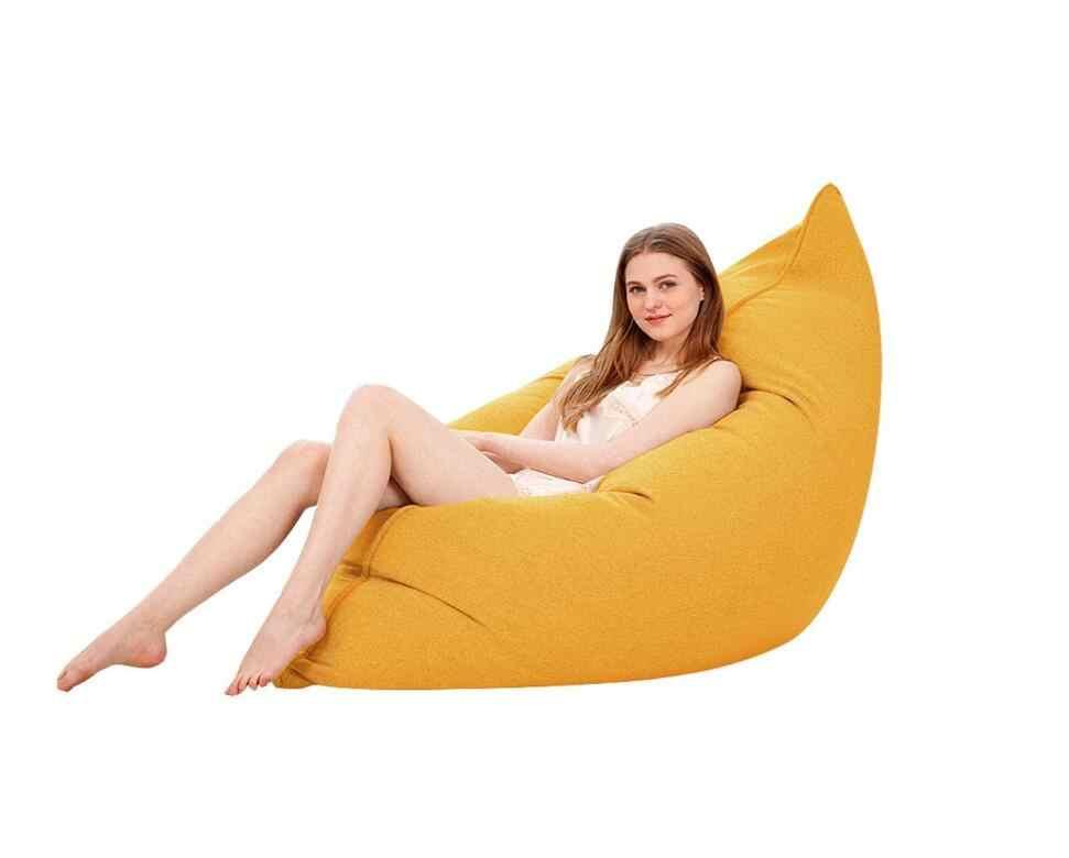 Mídia Espuma EPS Cheios Beanbag Espreguiçadeira Cadeira do Saco de Feijão Sofá Preguiçoso Quarto Sala de estar Cadeira Único 110x140 cm tatami Assento Sopro