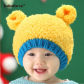 New Arrival Winter Cute Baby Warm Beanies Fashion Crochet Acrylic Little Bear Hat for Children High Quality Boys Girls Solid Cap