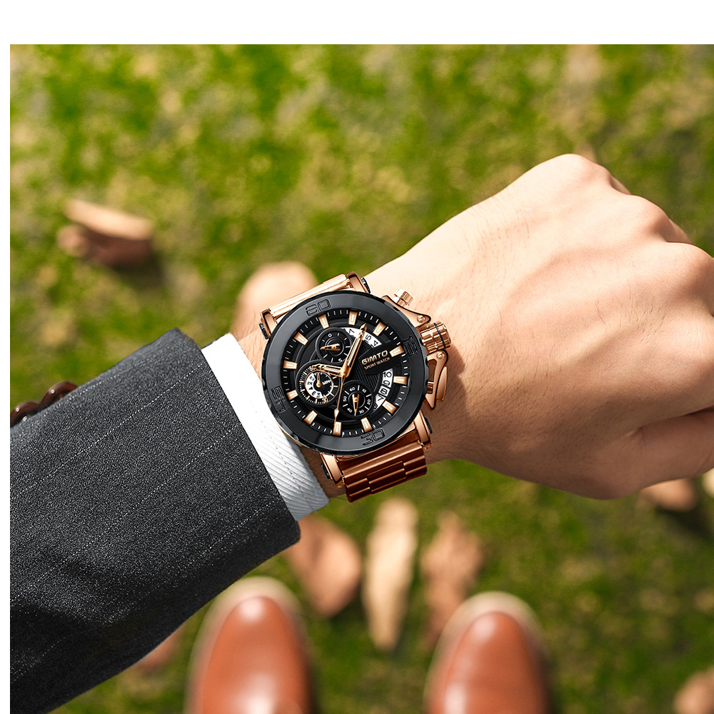2018 Top Brand Luxury Men Watch GIMTO Creative Gold Steel Business Quartz Wristwatch Army Military Male Watches Waterproof Clock onlyou men watches top luxury brand male business quartz clock women fashion big size gold wristwatch cheaper watch waterproof