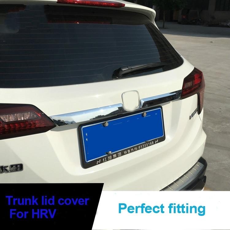 KOUVI ABS Chrome molding trunk lid cover trim 1pcs/set for Honda HRV HR-V Refitting Accessories car styling 2014 2015 2016