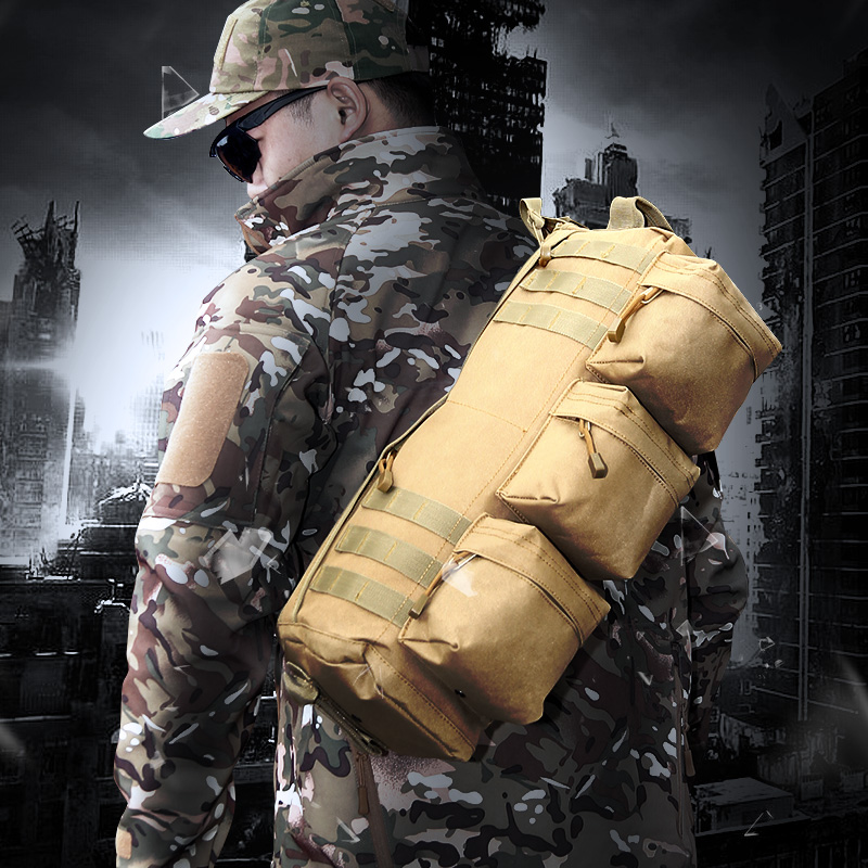Outdoor Utility Tactical Training Backpack Camo Army Assault Rucksack Hunting Hiking Military airborne Single Sling Shoulder Bag hunting tactical military gear replica ww2 m1 metal helmet 101st airborne 506th for war game cosplay