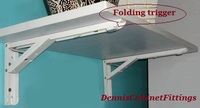 1 Pair 14 Folding Shelf Bracket White Paint RV Shelf