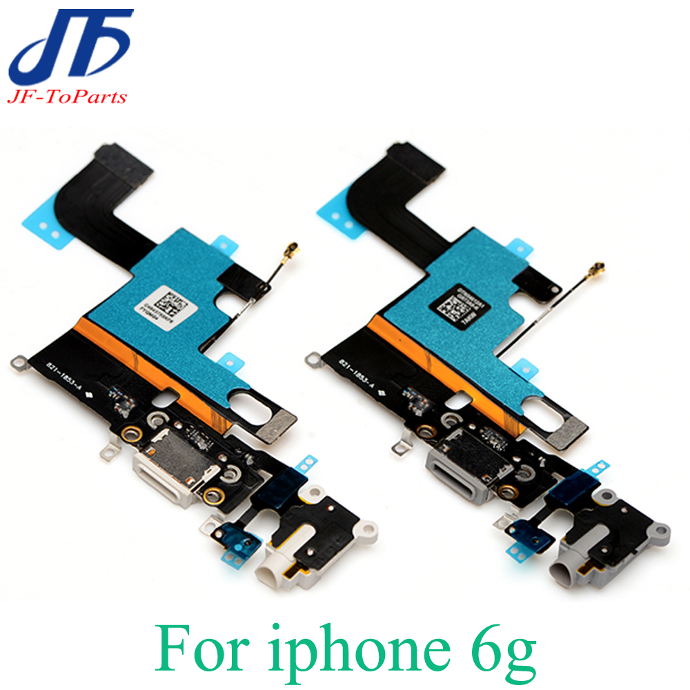 """imágenes para 10 unids Para el iphone 6 6g 4.7 """"cargador conector dock puerto de carga flex ribbon cable con micro usb audio jack de auriculares anttenna"""