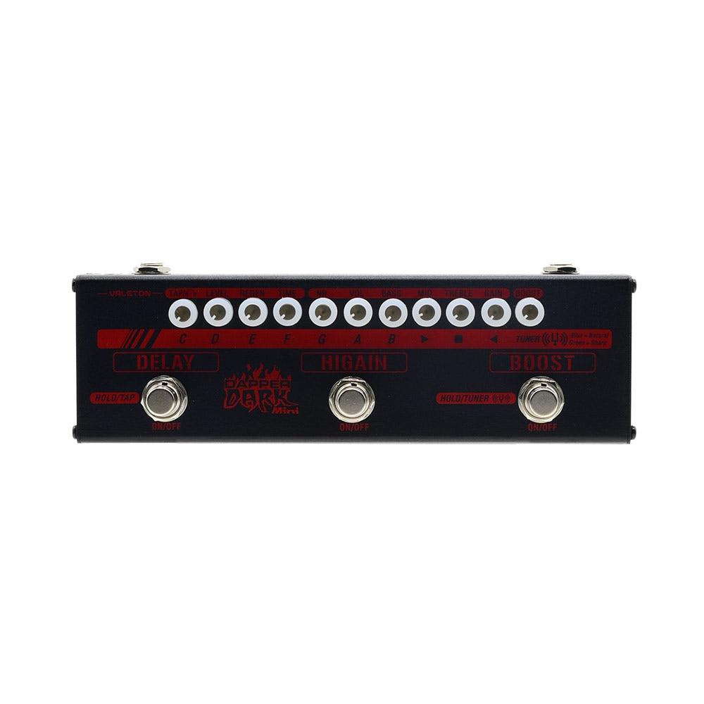 Valeton Dapper Dark Mini Effects Strip педаль с тюнером, повышением, Здравствуйте коэффициентом усиления и задержкой модели плюс изолированный источник пит
