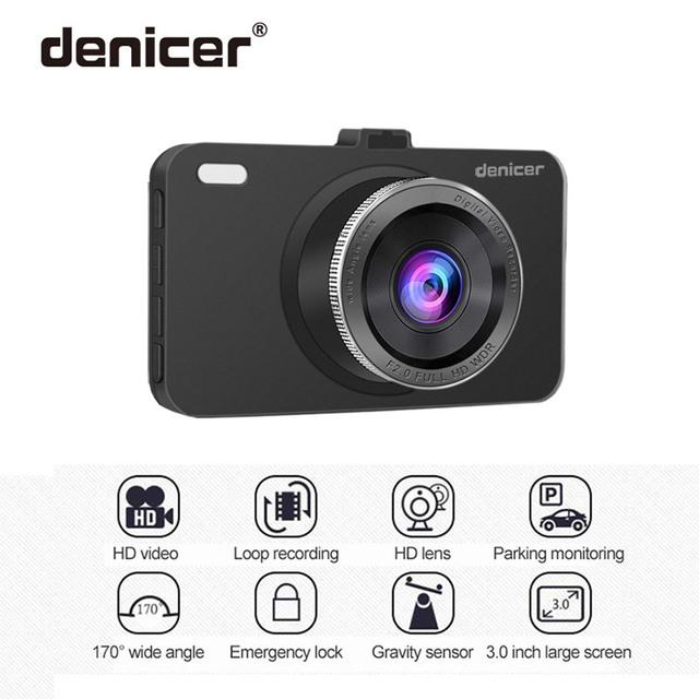 Denicer Car Dvr Camera 3.0″ Screen Full HD 1080P 30fps Dual Lens with Rear View Dashcam Auto Registrar Car Video Recorder DVRs