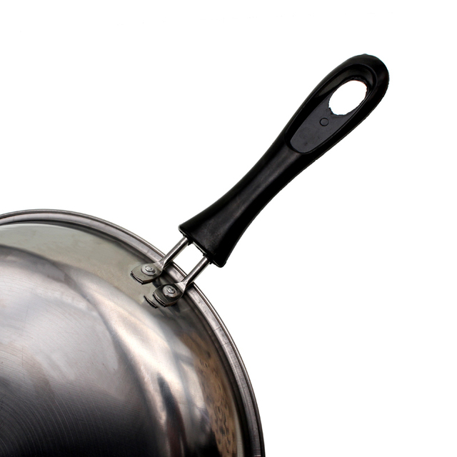Portable Stainless Steel Grill Pans Non-Stick Frying Pan For Pancake Fried Egg Steak Cooking Tools Cookware 22cm 24cm 26cm