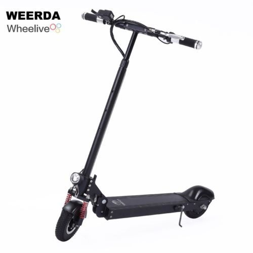 Inflatable Front Wheel Shock Absorption Portable Standing E Scooter Electric 2 Wheels Ebike Bicycle30km H 280w
