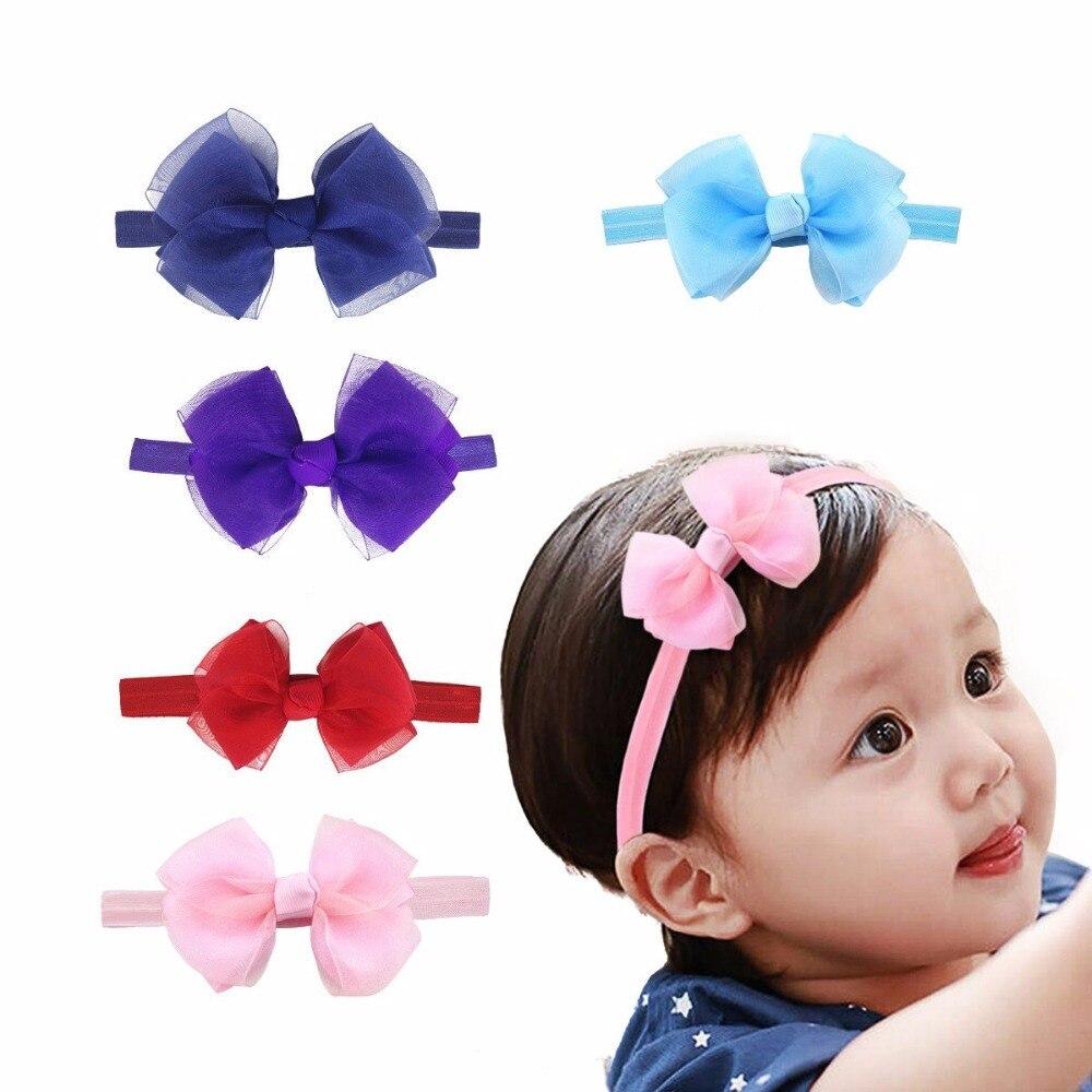 Cute Kids Girls Baby Headband Toddler Bow Flower Hair Band Accessories  Elastic 1266a912f031