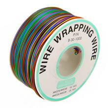 1 Roll Wrapping Wire 30AWG 0.25mm Tin Plated Copper Wire Wrapping Insulation Test Cable 8-Colored Circuit Board Fly Line недорого