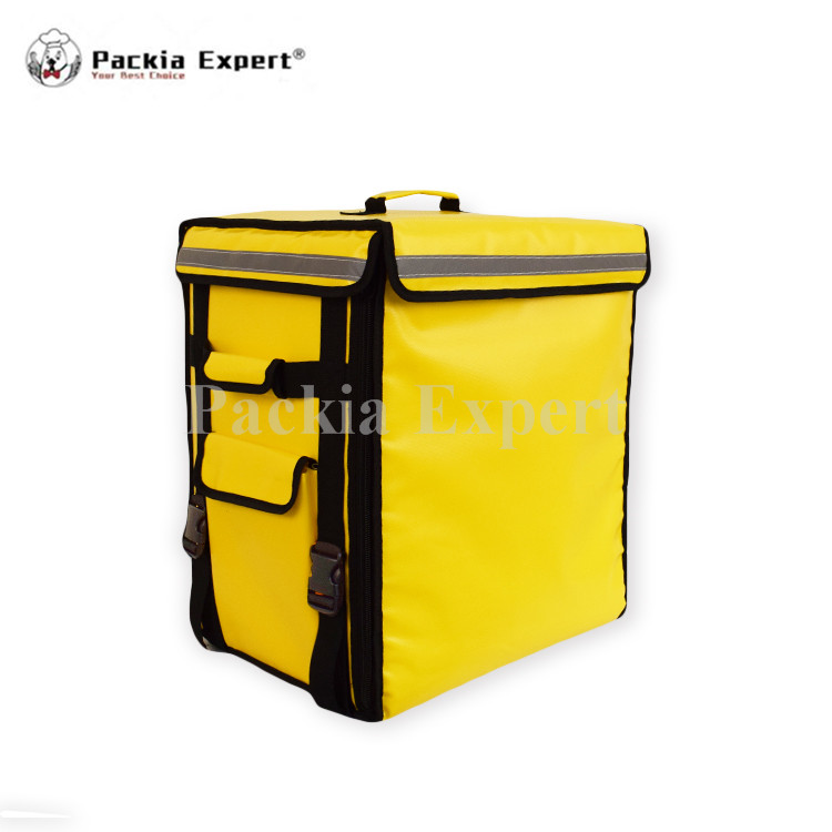 58L Yellow Food carrier Backpack insulation bag, food package delivery pizza bag PEHS433553 with two yellow Jackets