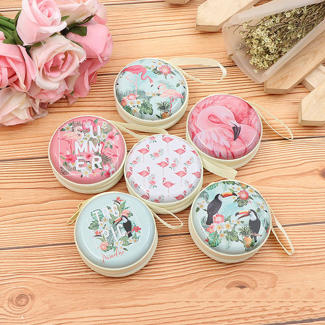New Flamingo SD Hold Case Storage Carrying Hard Bag Box Case for Headphone Earphone Earbuds Memory Card Storage Bag