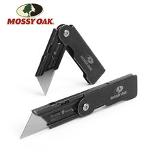 MOSSY OAK 2PC Folding Utility Knife Set Stainless steel Knife for Cutting Box Paper Quick-change Blade Knife(China)