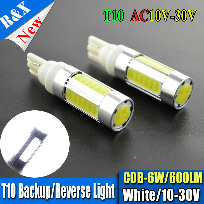 2pcs Hot Sale T10 W5W 194 168 6W COB LED High Power 600LM Car Auto Wedge Side Lights Rev ...