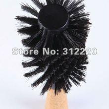 """Розничная профессиональная щетка для волос! Высокое качество деревянная щетина кабана круглая щетка для волос, L1"""", диаметр 3,15"""""""