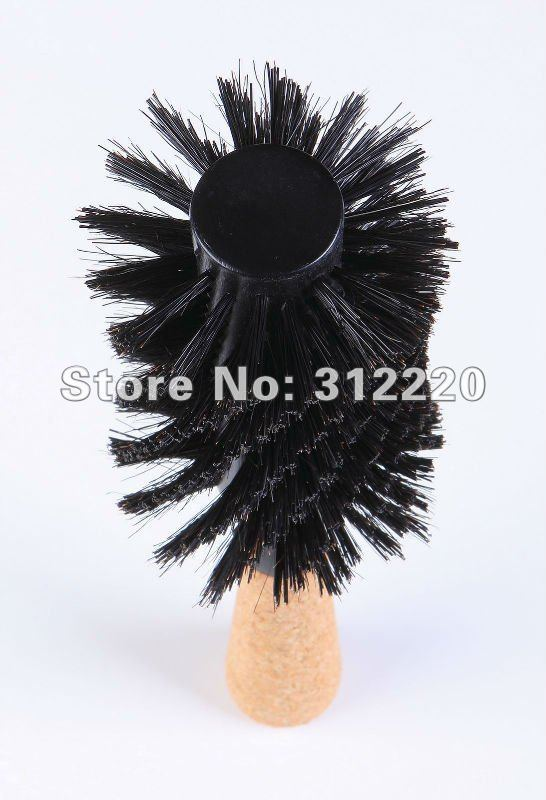 Retail Hair brush professional High Quality Wooden boar bristle Round Hair brush L10 Dia 3 15
