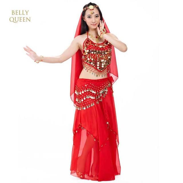 Belly Dance Costume Set / Indian Dance Dress For Women 5pcs/set