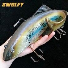 Swolfy 1 шт. 134 г 400 г Большой размер приманка из мягкой рыбы глубокие рыболовные приманки для моря Swimbait Isca искусственная Мягкая приманка Рыболовная Снасть