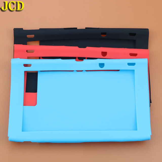 JCD 1Pcs Silicone Rubber Soft Host Display Screen Protective Skin Cover Case For Nintend Switch NS Console Protector Shell