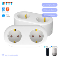 96pcs 2 In 1 Smart Plug Wifi Smart Socket 16A EU FR Plug Outlet Power Monitor Energy Saver Works Google Home Mini Alexa IFTTT