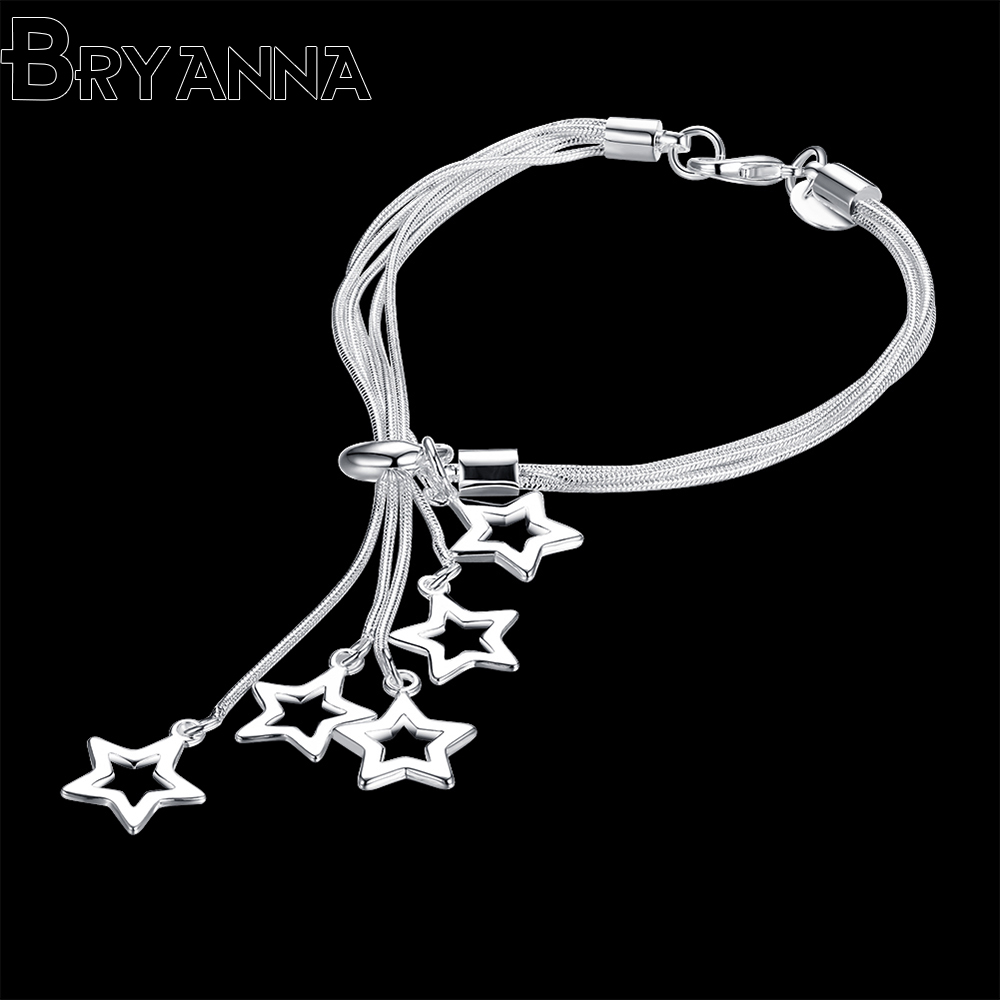 BJR4171 Bryanna Cute Romantic Crystal Bracelets For Women Charm Silver Bracelets & Bangles Bridal Wedding fashion Jewelry a suit of cute rhinestone elephants alloy bracelets for women
