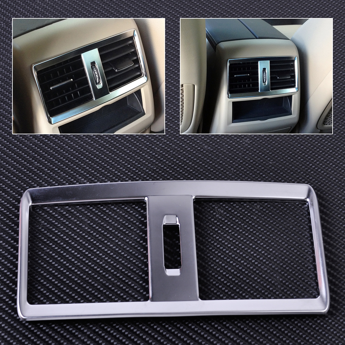 CITALL Interior Rear Armrest Air Condition Vent Outlet Cover Trim Frame for Mercedes Benz ML W166 GL X166 2013 2014 2015 2016 rear shock struts 2 air spring bag kit for mercedes ml